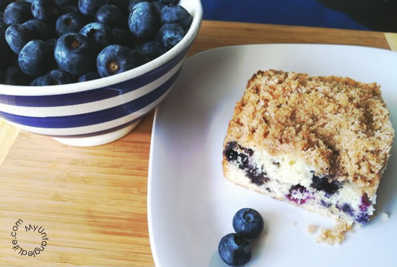 Blueberry Buckle Coffee Cake #recipe - MyUntangled Life