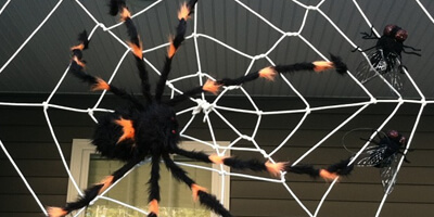Make Your Own Halloween Spider Web