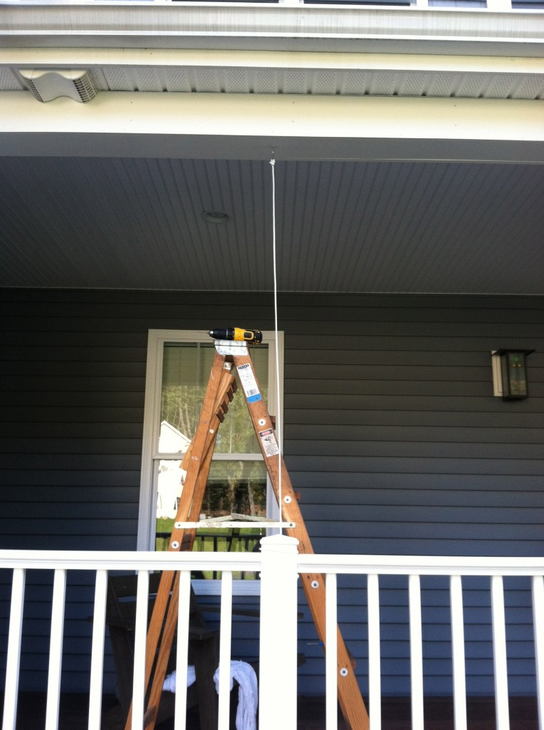 Make Your Own Halloween Spider Web - Vertical Rope