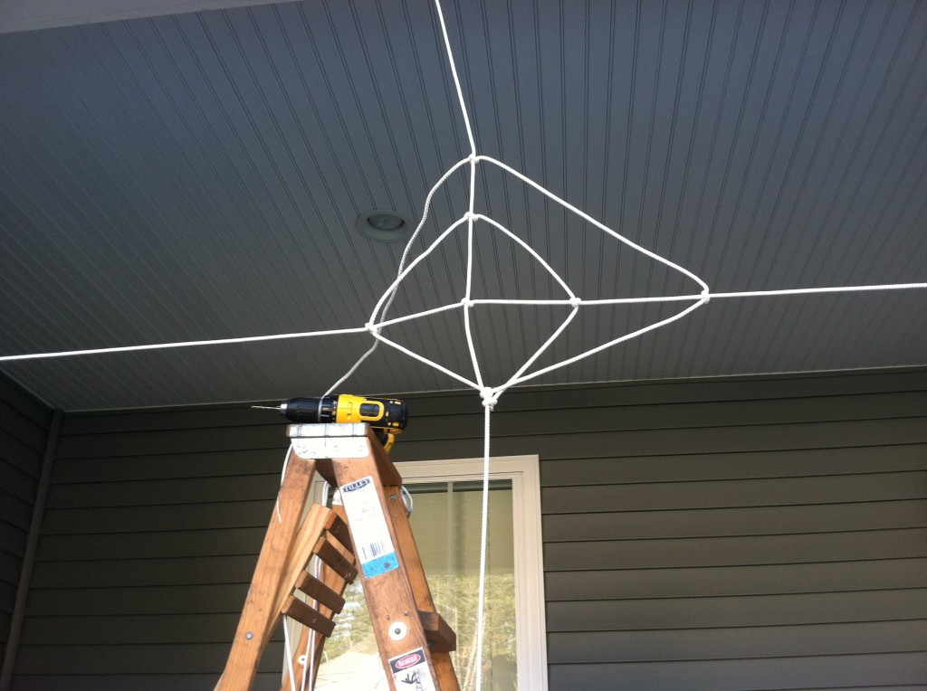 Tying Knots When You Make a Halloween Spider Web