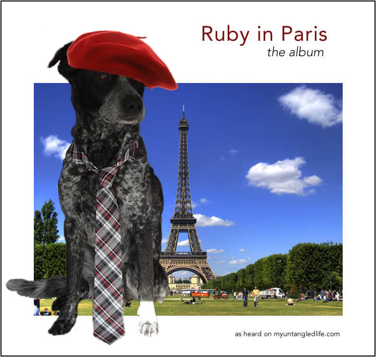 Ruby the Dog in Paris