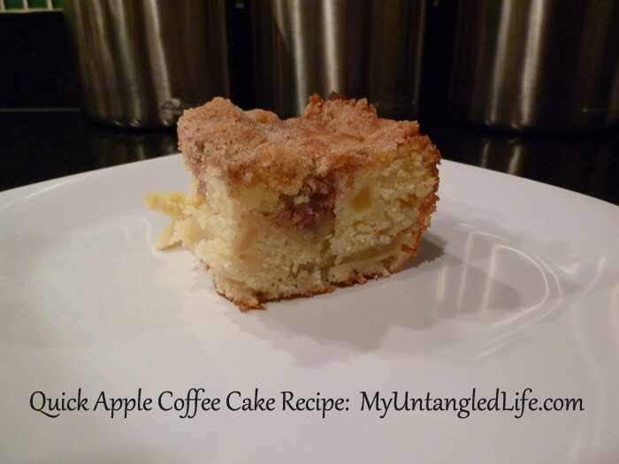 KatTreats quick apple coffee cake