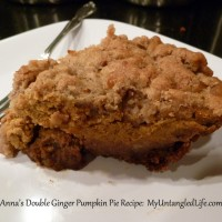 Anna's Double Ginger Pumpkin Pie