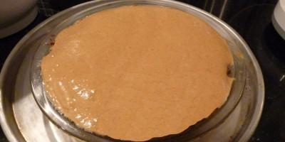 pumpkin filling in ginger crust