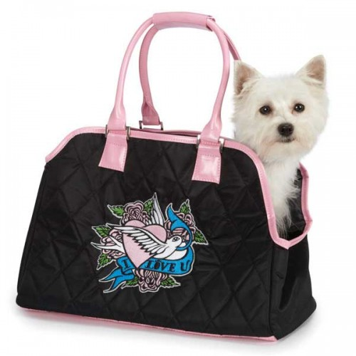 East Side Collection Quilted I Love U Carrier