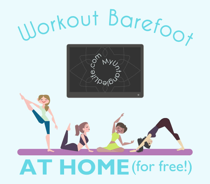 You were going to start your new workout plan yesterday but decided to wait until tomorrow. What now? Kick off your shoes and get untangled with some free barefoot at-home workouts with YouTube!