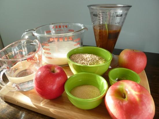 Crockpot Oatmeal Recipe Mise en Place, Kat Treats