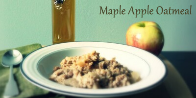 maple apple oatmeal