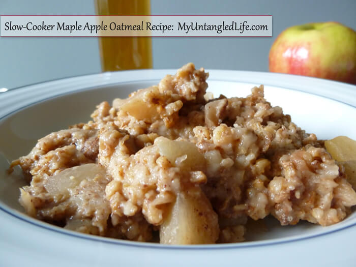 Maple Apple Oatmeal Recipe - MyUntangledlife.com