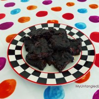 gluten free black bean and blueberry brownies
