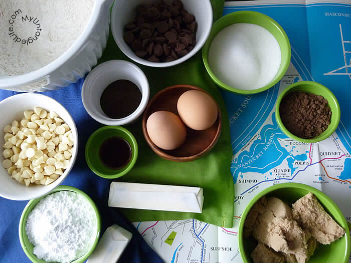 Mocha Chocolate Chip Cookies Recipe Mise en Place