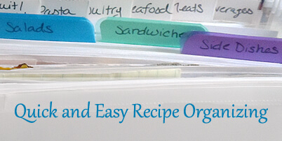 Quick and Easy Recipe Organizing Tips
