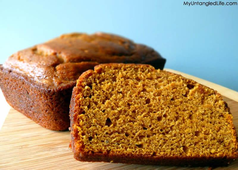 Simply Pumpkin Bread - Kat Treats with MyUntangledLife.com