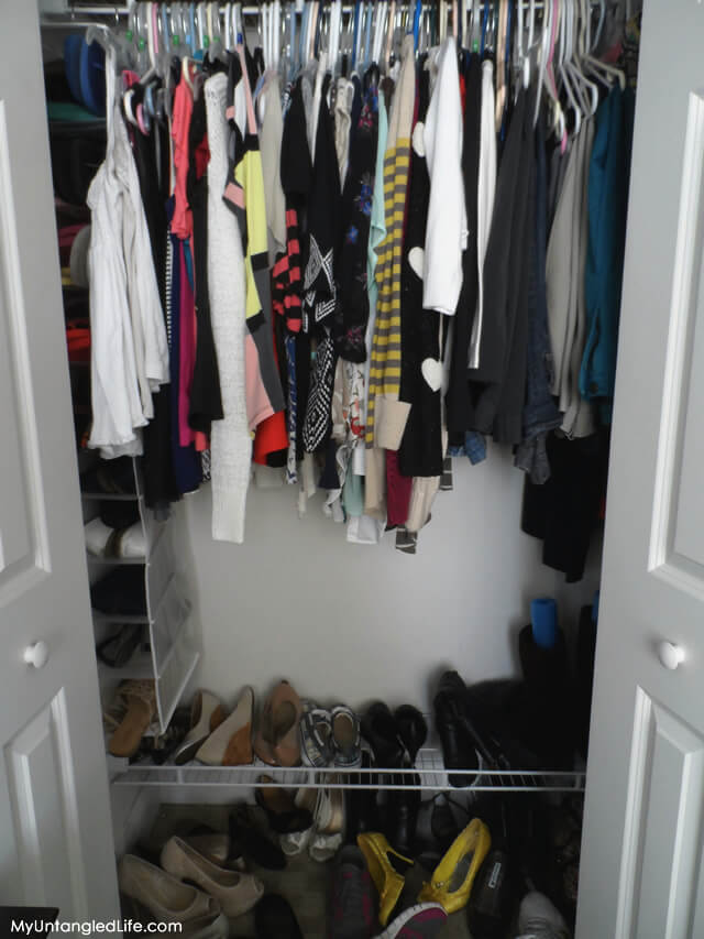 Closet Reorganization Project (Before)