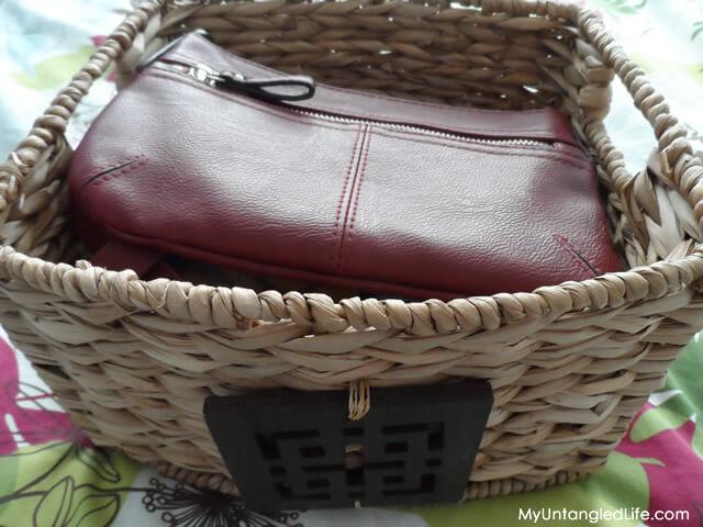 Closet Reorganization Project Handbag Storage