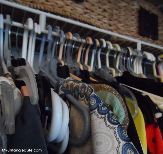 Closet Reorganization Project Hanger Trick