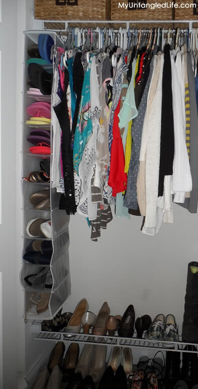Closet Reorganization Project Hanging Shoe Organizer