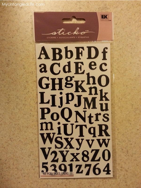 DIY Organizing Alphabet Stickers