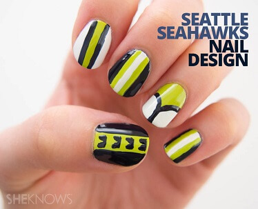 Seattle Seahawks Manicure