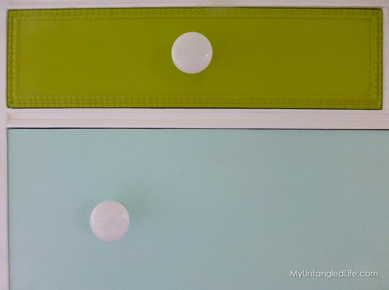 Dresser Paint and Knobs - MyUntangledLife.com