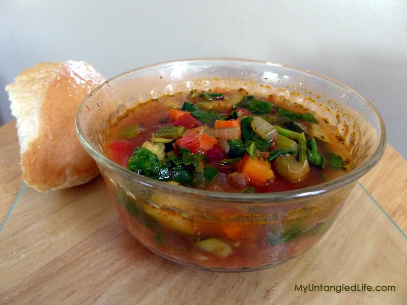 Vegetable Soup Recipe - MyUntangledLife.com