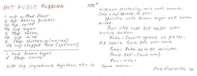 Gram's Hot Fudge Pudding