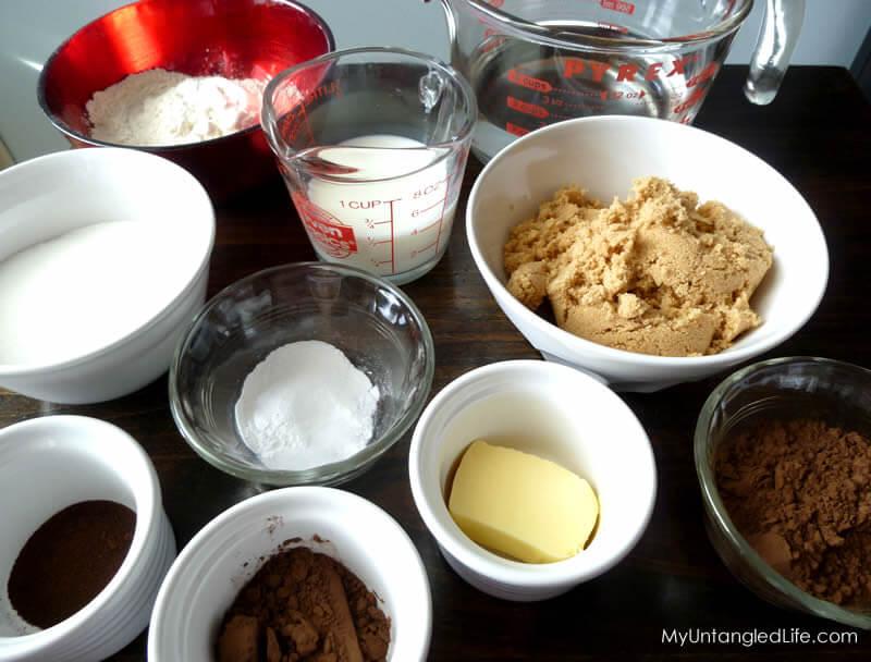 Hot Fudge Pudding Mise en Place