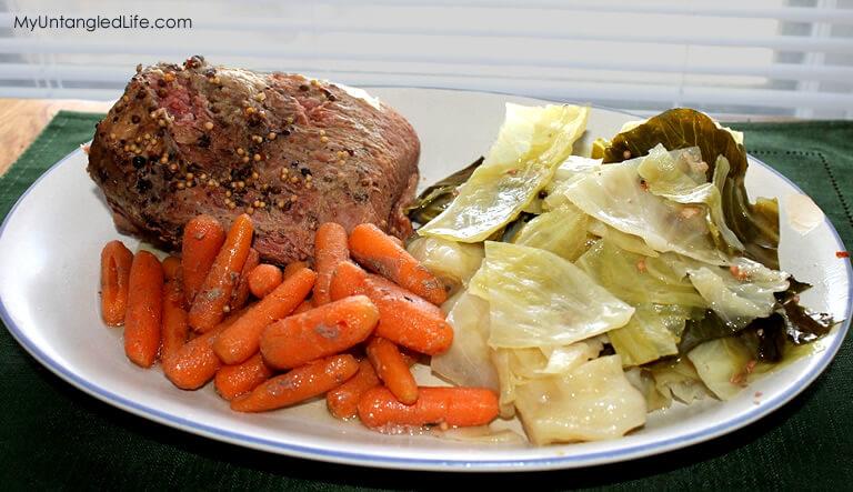 #slowcooker Corned Beef Recipe - MyUntangledLife.com