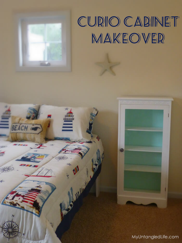 DIY Nautical Cabinet #Makeover