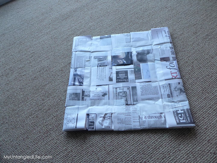 Finished newspaper pad for situpon