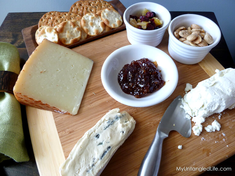 MyUntangled Cheese Plate - MyUntangledLife.com & How to Create the Perfect Cheese Plate