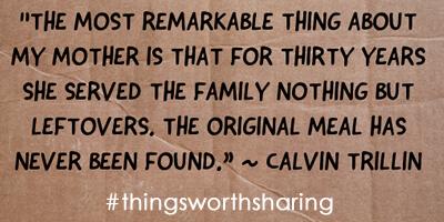 Calvin Trillin Quote