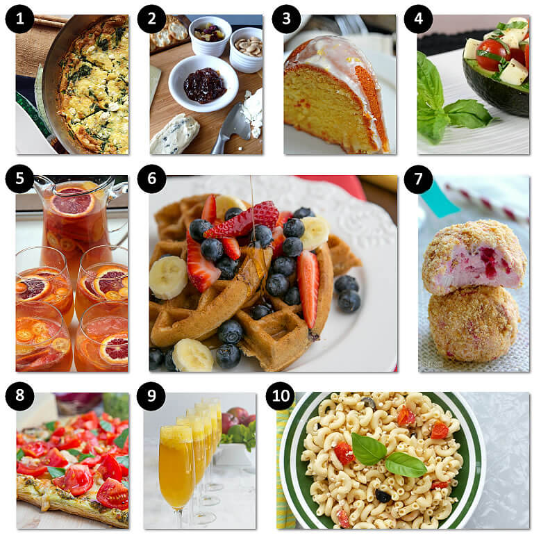Mothers Day Brunch Ideas - food and drink recipes for everyone!