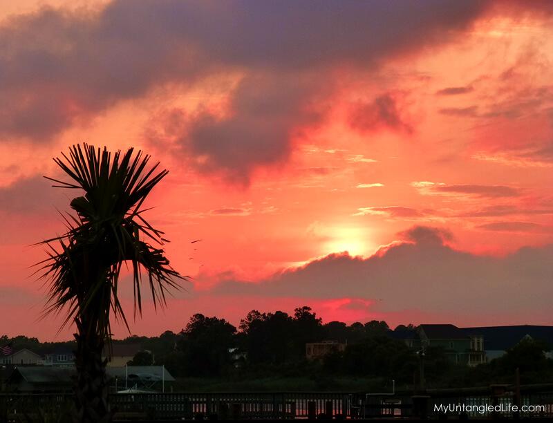 Oak Island Sunset - MyUntangled Life