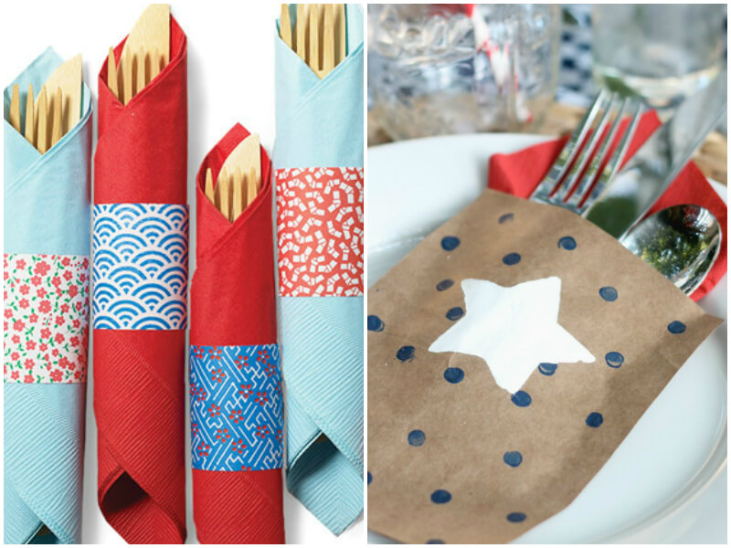 4th of July Party Ideas - Silverware Displays