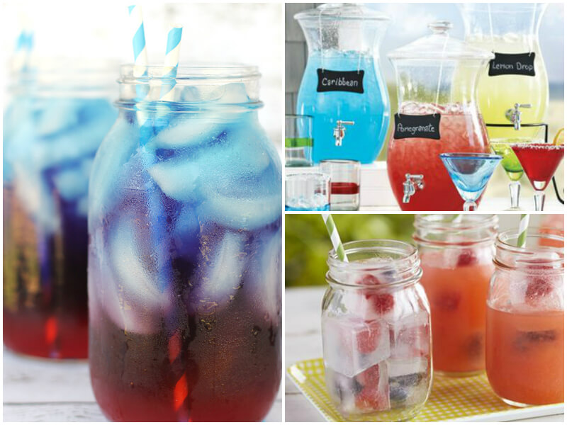 4th of July Party Ideas - Colorful Drinks