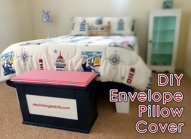 How To Make Your Own Envelope Pillow Case