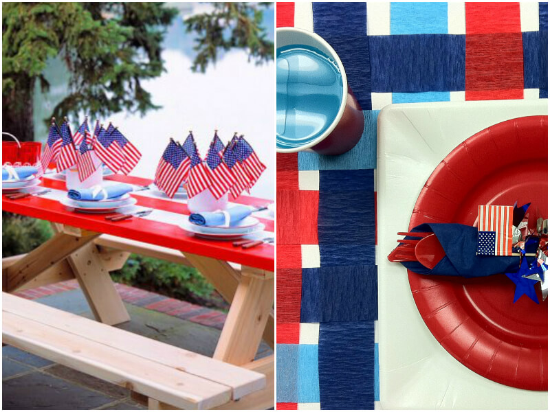4th of July Party Ideas for the table