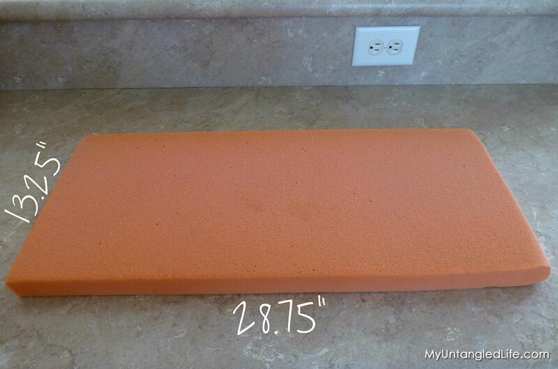 Pillow Cover Foam Measurements