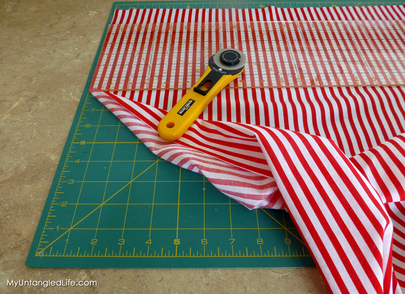 Pillow Cover Measure and Cut Fabric
