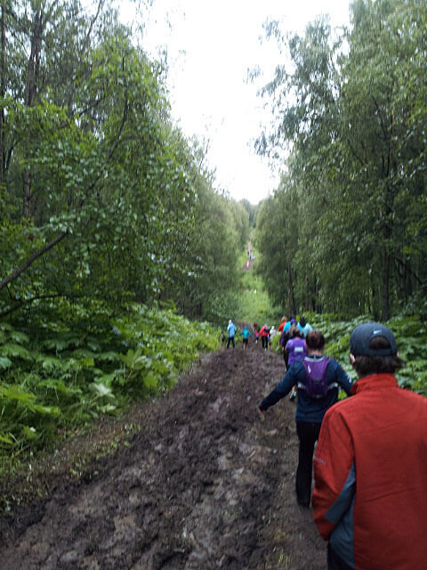 Alaska Marathon in the mud