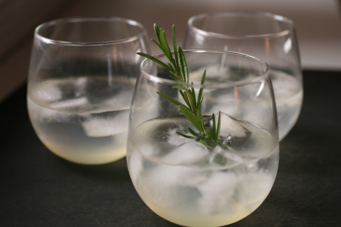 The Bitten Word - Vodka Rosemary Lemonade Fizz