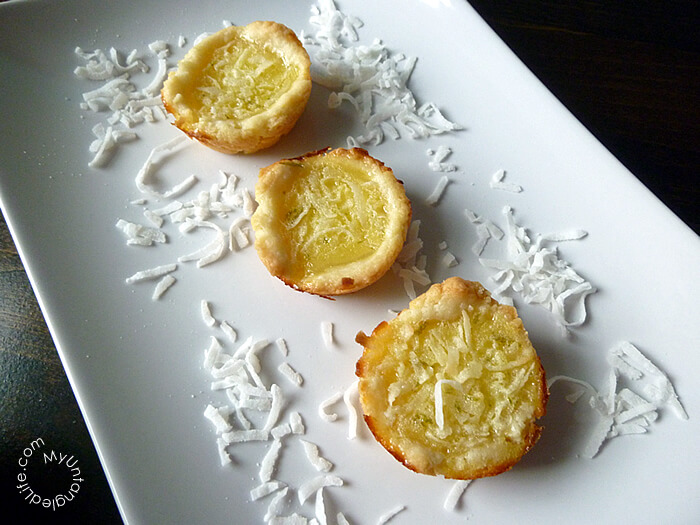 Coconut Lime Chess Tartlets