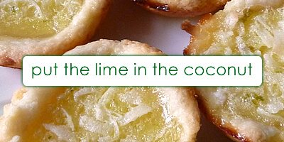 Coconut Lime Tartlets