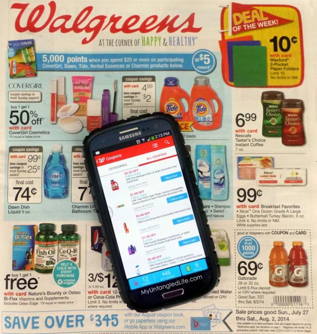 #WalgreensPaperless Coupon App