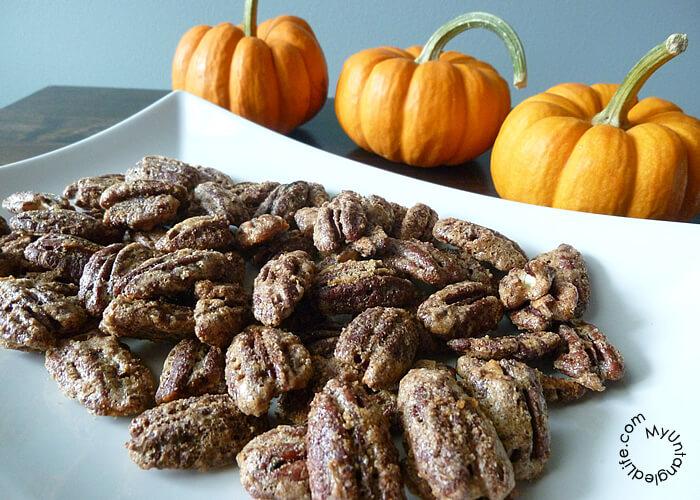Maple Pumpkin Pie Spice Pecans