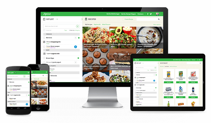 Recipes and Shopping Lists with Ziplist