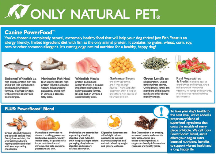 Only Natural Pet Canine PowerFood Dry Dog Food Ingredients #PawNatural