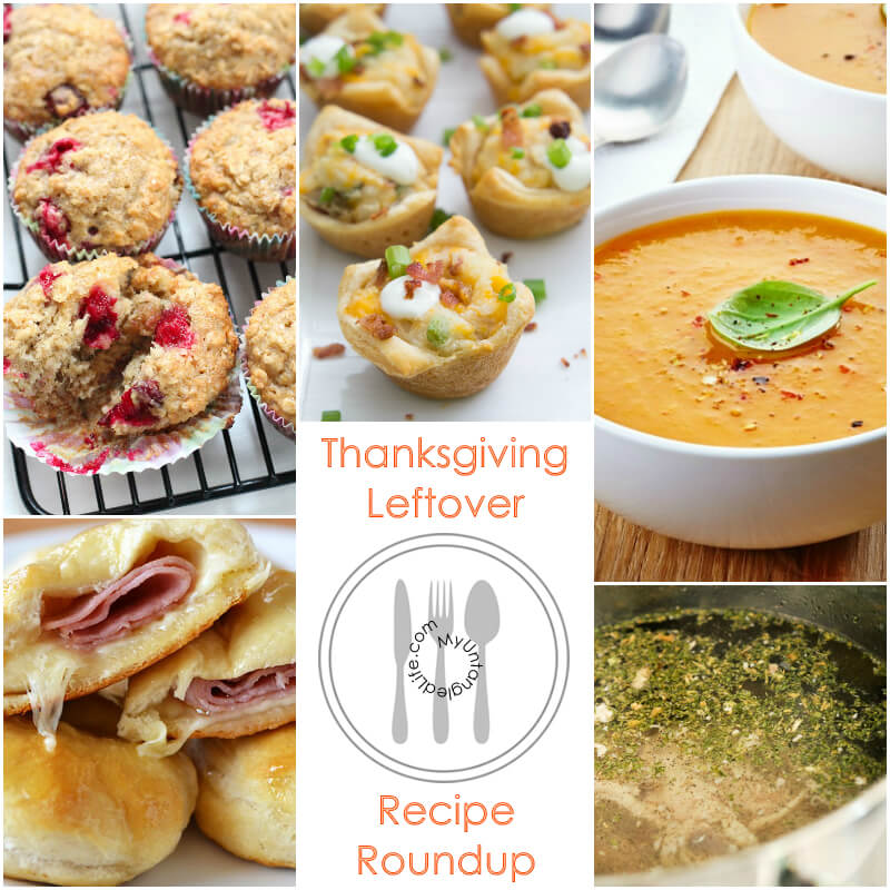 Thanksgiving Leftovers Roundup of Recipes - MyUntangledLife.com