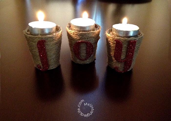 diy holiday candle holders. Black Bedroom Furniture Sets. Home Design Ideas